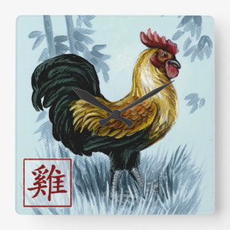 Chinese Zodiac Year of the Rooster Wall Clock