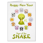 Chinese Zodiac Year of the Snake 2013 Greeting Card