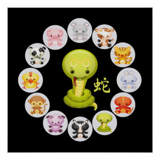 Chinese Zodiac Year of the Snake 2013 Posters