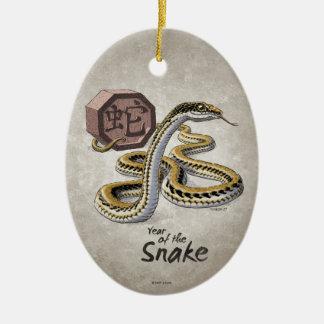 Chinese Zodiac Year of the Snake Art Ceramic Ornament