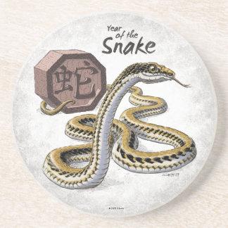 Chinese Zodiac Year of the Snake Art Coaster