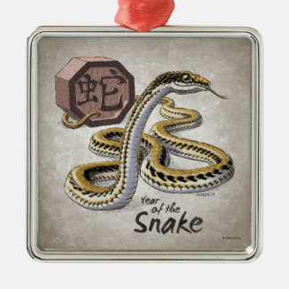 Chinese Zodiac Year of the Snake Art Metal Ornament