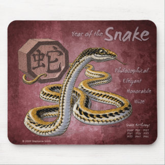 Chinese Zodiac Year of the Snake Art Mouse Pad