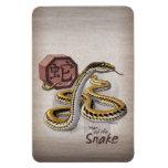 Chinese Zodiac Year of the Snake Art Rectangular Photo Magnet