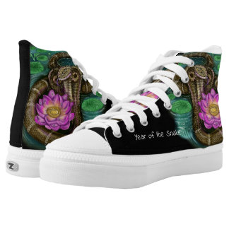 Chinese Zodiac Year of the Snake High-Top Sneakers