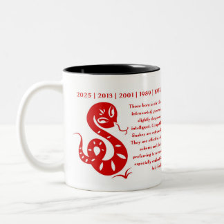 CHINESE ZODIAC YEAR OF THE SNAKE MUG