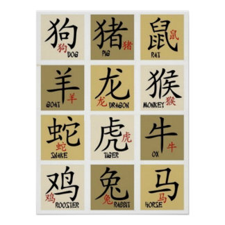 Chinese Zodic Signs Poster