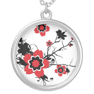 ChineseCherry Blossom Flower Necklace