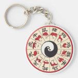 ChineseZodiac Basic Round Button Keychain