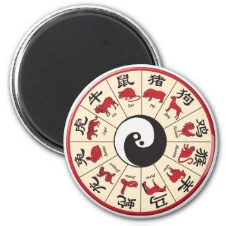 ChineseZodiac Imán Redondo 5 Cm