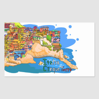 chinkue tetsure of Italy it is loose the picture Rectangular Sticker