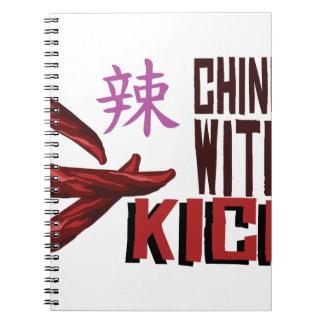 Chino con retroceso libro de apuntes