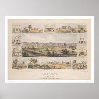 Chino, condado de Tolumne [sic] (1300) Posters