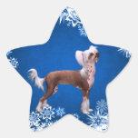 Chino Crested Calcomania Forma De Estrella