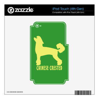 Chino Crested iPod Touch 4G Skins