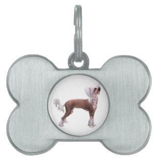 Chino Crested Placas De Mascota