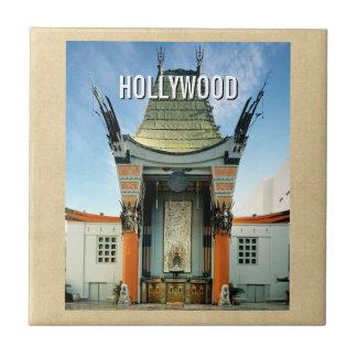 Chino de Hollywood Boulevard Grauman Azulejo Cuadrado Pequeño