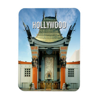 Chino de Hollywood Boulevard Grauman Rectangle Magnet