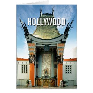 Chino de Hollywood Boulevard Grauman Tarjeta De Felicitación