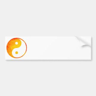 Chino de la acuarela del naranja y del amarillo de pegatina de parachoque