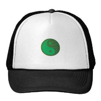 Chino de la balanza YIN YANG del verde del navinJO Gorros