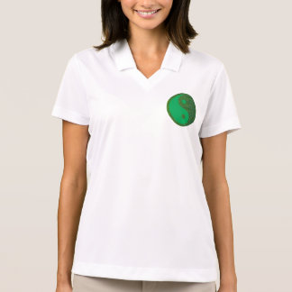 Chino de la balanza YIN YANG del verde del navinJO Polo Camiseta