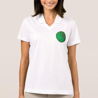 Chino de la balanza YIN YANG del verde del Polo Camiseta