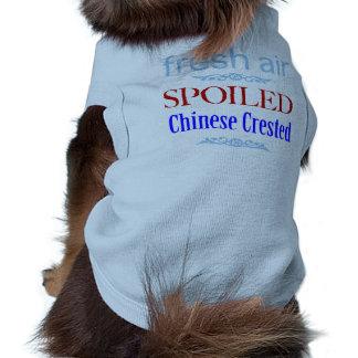 chino estropeado Crested Playera Sin Mangas Para Perro