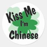 chino etiquetas redondas