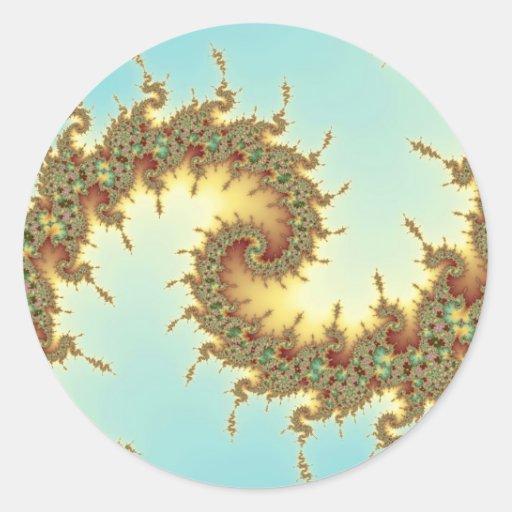 Chino - fractal pegatina redonda