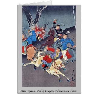 Chino guerra japonesa por Utagawa, Kokunimasa Ukiy Tarjeta Pequeña