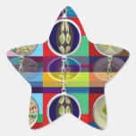 Chino oriental: Pequeñas decoraciones de los Colcomanias Forma De Estrella Personalizadas