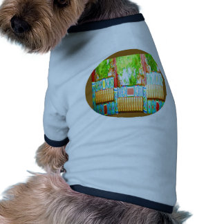 Chino plateado oro Windows Camisetas De Mascota