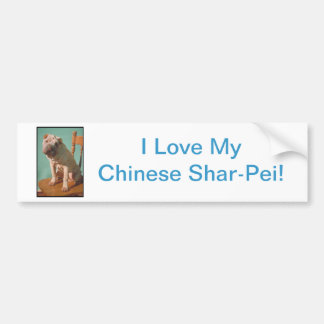 Chino Shar-Pei Pegatina Para Auto