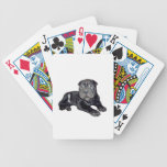 Chino Shar Pei - perrito negro Cartas De Juego