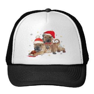 Chino Shar-pei regalos de las Felices Navidad Gorra