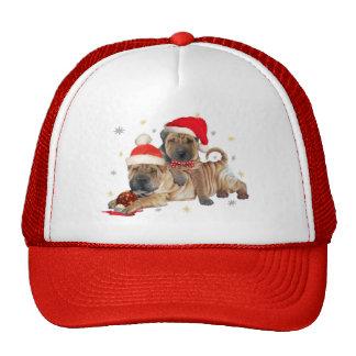 Chino Shar-pei regalos de las Felices Navidad Gorros