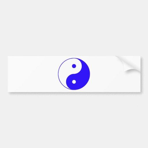 Chino Taijitu de la muestra del Taoism de Yin Yang Etiqueta De Parachoque