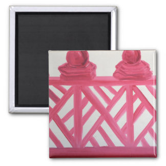 CHINOISERIE  au JARDIN 2 Inch Square Magnet