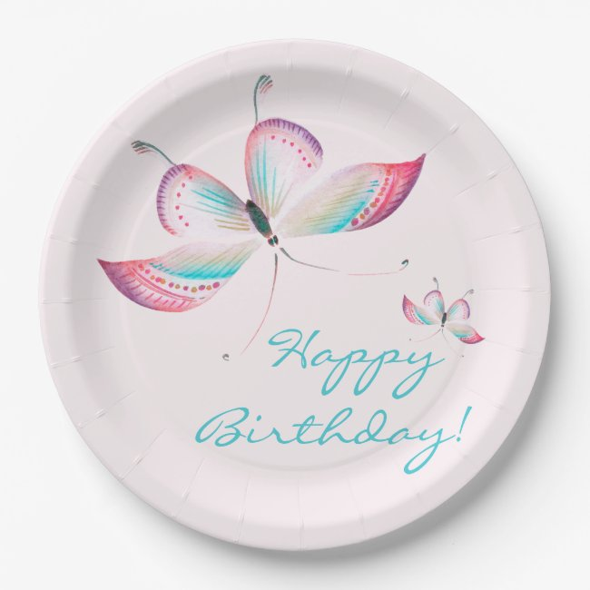 Chinoiserie Butterflies | Birthday Paper Plates