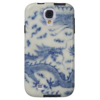 Chinoiserie chino del azul de Mónaco del dragón de Funda Para Galaxy S4