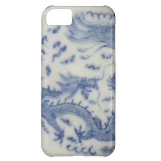 Chinoiserie chino del azul de Mónaco del dragón de Funda Para iPhone 5C