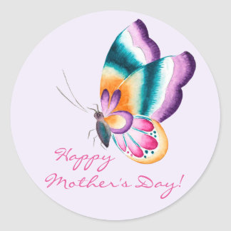 Chinoiserie Flowers   Happy Mother's Day Stickers