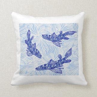 chinoiserie koi throw pillow
