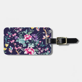 CHINOISERIE - NAVY BASE LUGGAGE TAG
