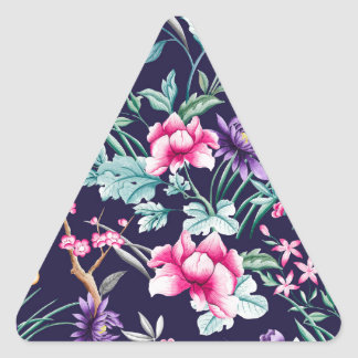 CHINOISERIE - NAVY BASE TRIANGLE STICKER