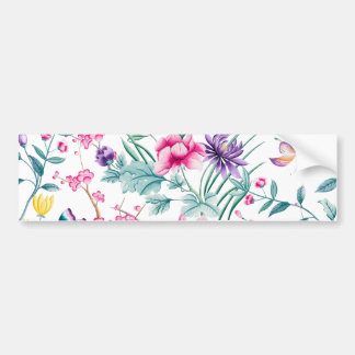 CHINOISERIE PRINT 2 BUMPER STICKER