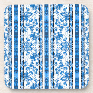 Chinoiserie Striped Floral Print Drink Coaster