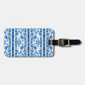 Chinoiserie Striped Floral Print Luggage Tag