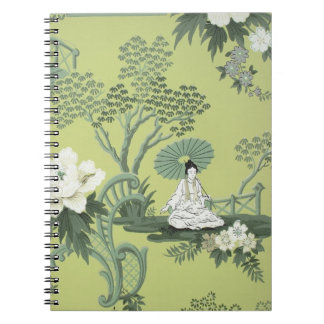 Chinoiserie wallpaper, 1950-1960 spiral notebook